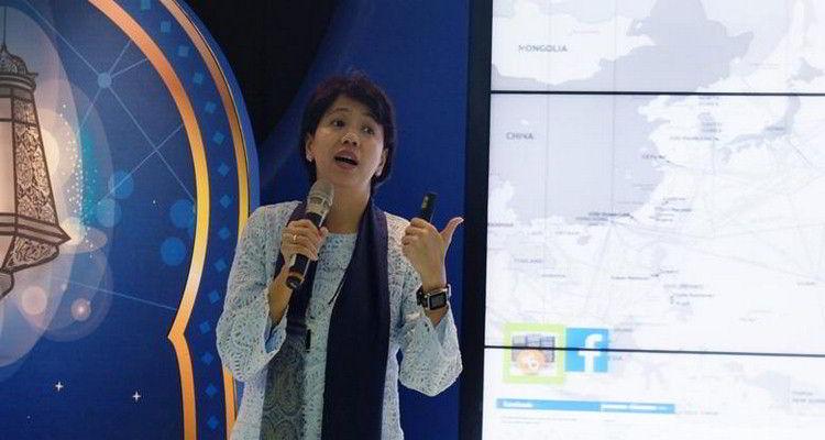 Chief Service Management XL Yessie D. Yosetya saat menghadiri acara buka bersama di Jakarta (Kredit: Yoga Hastyadi Widiartanto/Kompas.com)