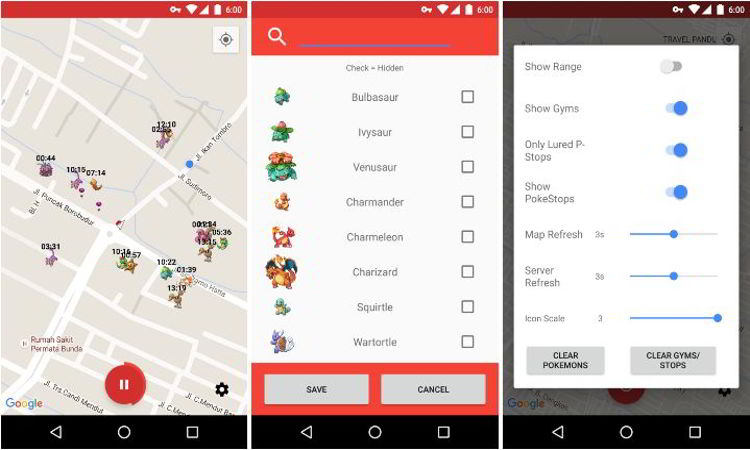 Poke Scanner, Aplikasi Radar Pokemon untuk Android