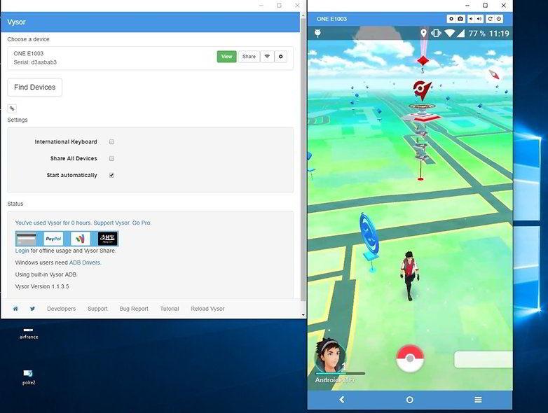 Cara Memainkan Pokemon Go di Komputer dengan Vysor