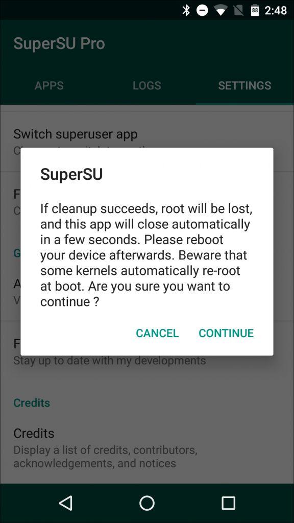 Unroot Android dengan SuperSU