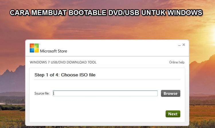 Cara Mudah Membuat Bootable DVD/USB untuk Windows