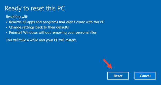 Cara Reset Ulang Windows 10 tanpa Menghapus File-File Pribadi