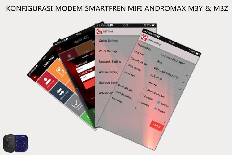 Konfigurasi Modem Smartfren MIFI Andromax M3Y & M3Z