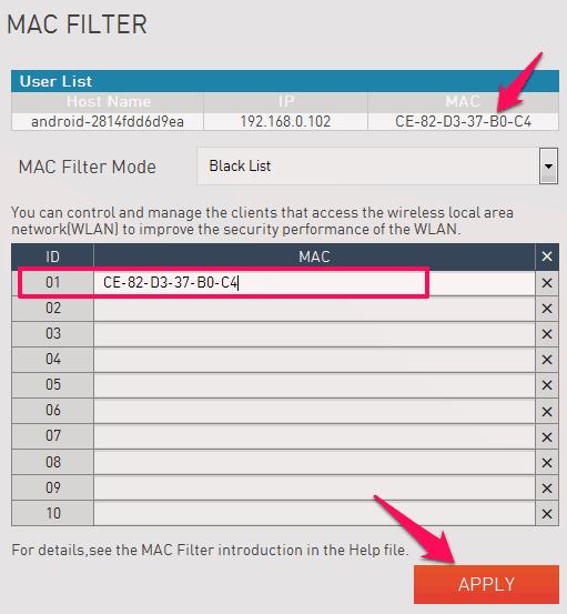 Cara Blokir Perangkat atau Pengguna Lain di MiFi Andromax