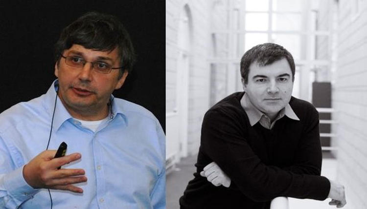 Sir Andre Geim and Sir Konstantin Novoselov