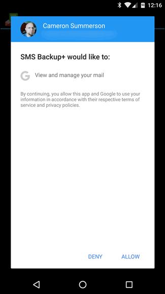 Cara Backup Pesan SMS ke Akun Gmail