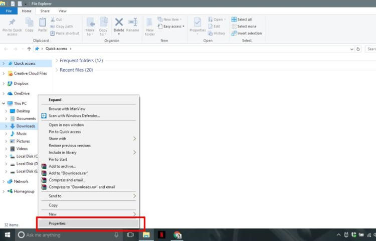 Cara Ubah Lokasi Penyimpanan Default File Download Di Windows 10 A
