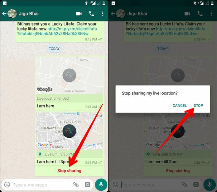 Cara Berbagi Live Location Di Whatsapp 10