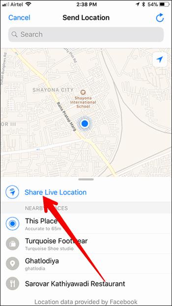 Cara Berbagi Live Location Di Whatsapp 3