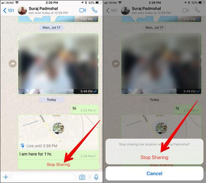 Cara Berbagi Live Location Di Whatsapp 5