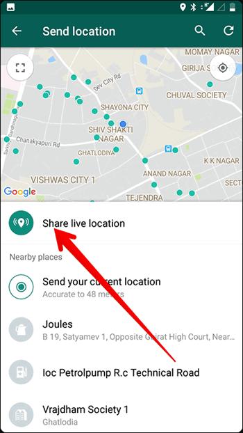 Cara Berbagi Live Location Di Whatsapp 8
