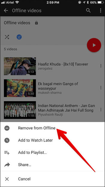 Cara Menghapus Video Offline Youtube Di Iphone Dan Ipad 8