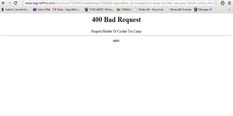minecraft bad request