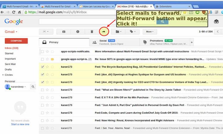 Cara Forward Multiple Email Di Gmail