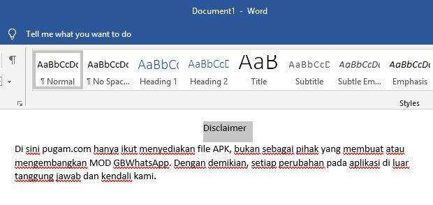 Cara Membuat Ukuran Font Lebih Besar Dari 72 Di Microsoft Word 1