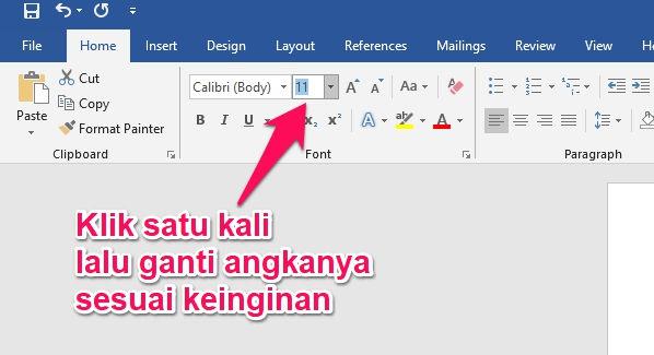 Cara Membuat Ukuran Font Lebih Besar Dari 72 Di Microsoft Word 3