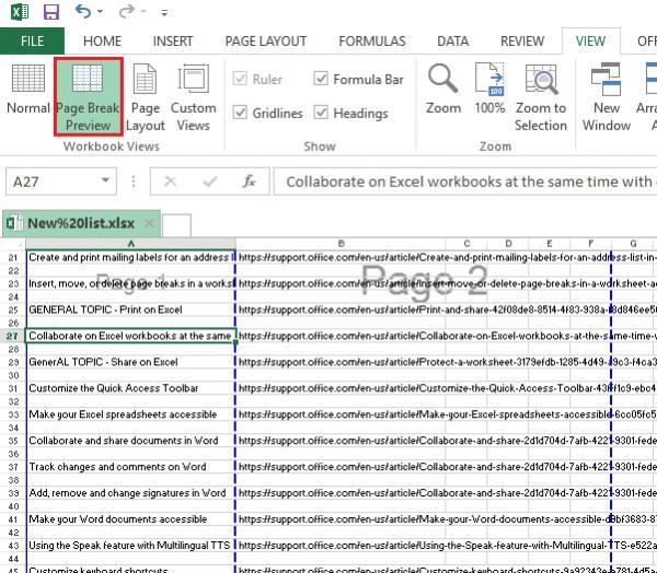 Cara Menggunakan Page Breaks Di Microsoft Excel 1
