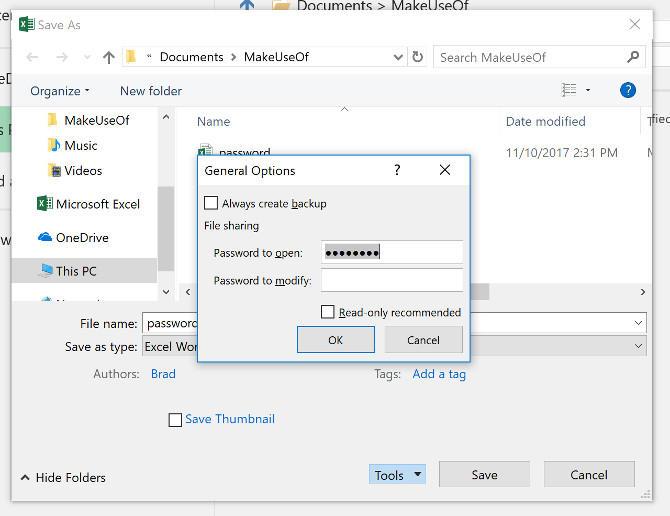 Cara Mengunci File Excel Dengan Password E