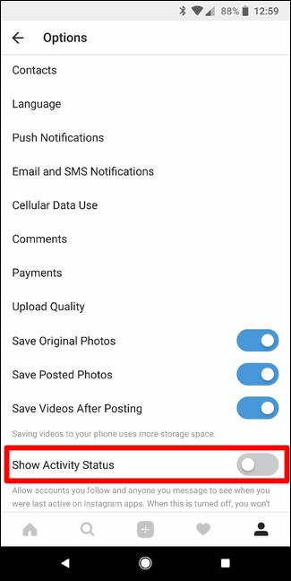 Cara Nonaktifkan Status Aktivitas Di Instagram D