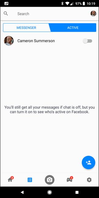 Cara Sembunyikan Status Aktif Facebook Messenger D