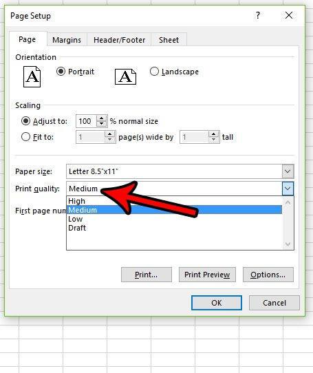 Cara Ubah Kualitas Cetakan Di Microsoft Excel 2016 C