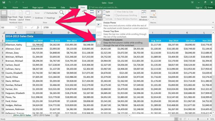 Cara Freeze Dan Unfreeze Kolom Dan Baris Di Microsoft Excel B