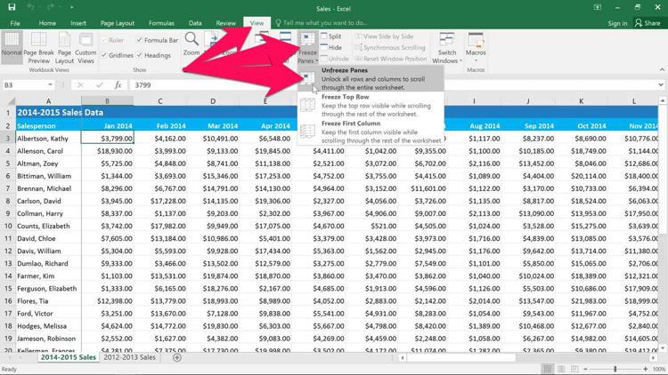 Cara Freeze Dan Unfreeze Kolom Dan Baris Di Microsoft Excel D