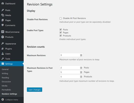 Cara Batasi Atau Nonaktifkan Post Revisions Di WordPress 5