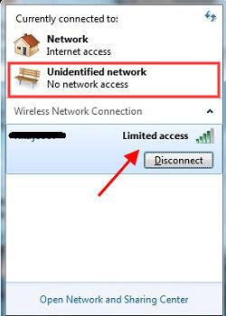 Cara Perbaiki Masalah Koneksi Limited Acces Di Windows 7