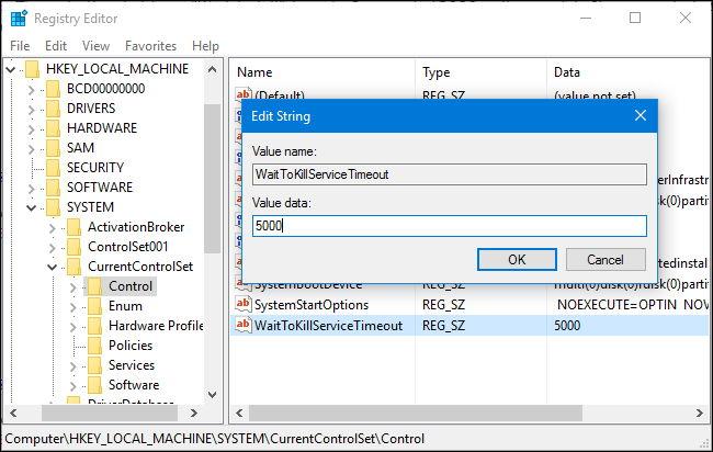 Atur Waktu Tunggu Windows Menutup Program Saat Shutdown 9
