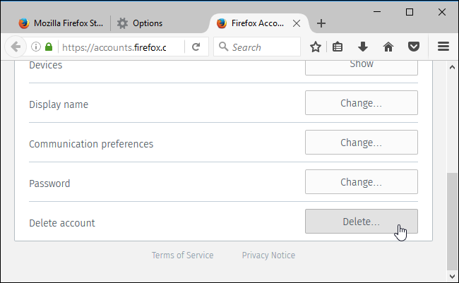 Cara Hapus Akun Firefox 3