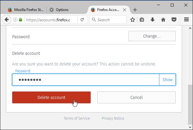 Cara Hapus Akun Firefox 4