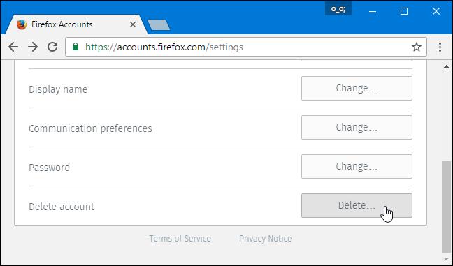 Cara Hapus Akun Firefox 6