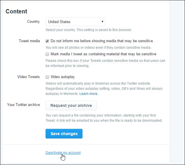 Cara Hapus Akun Twitter 2