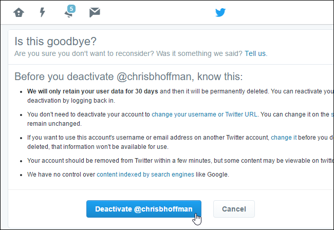 Cara Hapus Akun Twitter 3