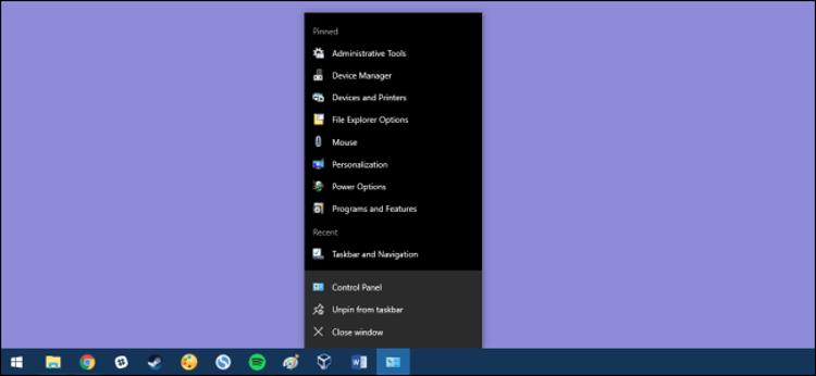 Cara Pin Control Panel Ke Taskbar Windows
