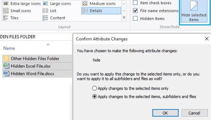 Cara Sembunyikan File Dan Folder Di Windows 10 B