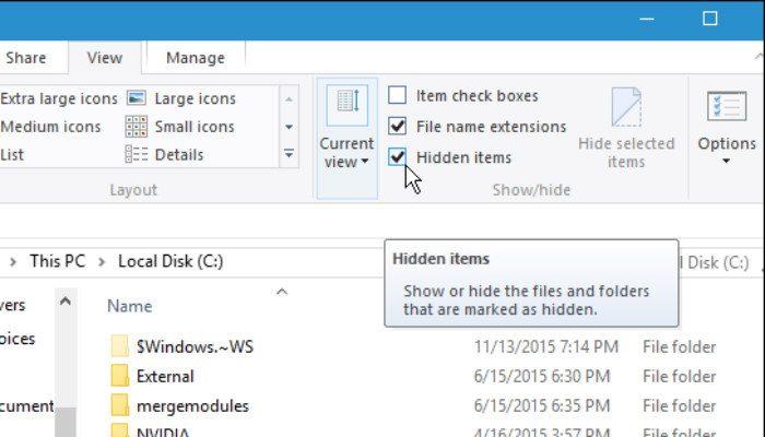 Cara Sembunyikan File Dan Folder Di Windows 10 C