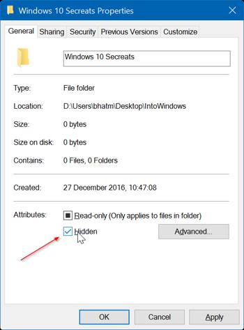 Cara Sembunyikan File Dan Folder Di Windows 10 T