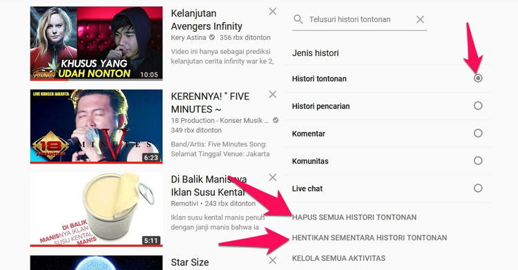 Cara Berhenti Melihat Rekomendasi Video Atau Channel Di Youtube 2