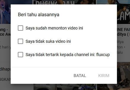 Cara Berhenti Melihat Rekomendasi Video Atau Channel Di Youtube 5