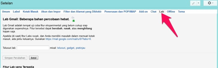 Cara Munculkan Ikon Unread Message Di Tab Gmail 2