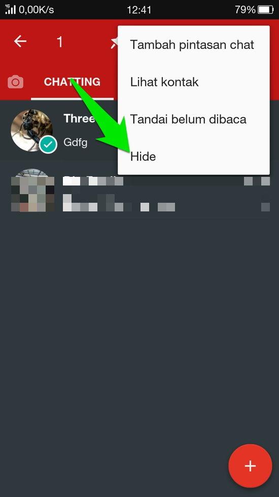 Cara Sembunyikan Kontan Dan Grup Whatsapp 2