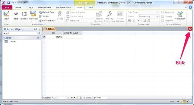 Cara Membuat Database Di Ms Access 2010 1