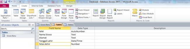 Cara Membuat Database Di Ms Access 2010 12