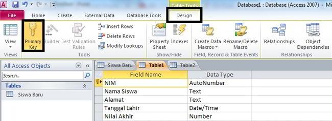 Cara Membuat Database Di Ms Access 2010 13