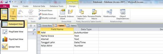 Cara Membuat Database Di Ms Access 2010 14