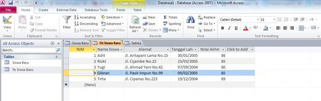 Cara Membuat Database Di Ms Access 2010 17