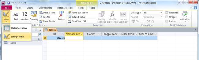 Cara Membuat Database Di Ms Access 2010 5