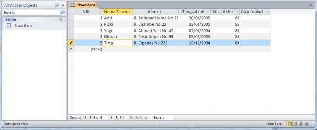 Cara Membuat Database Di Ms Access 2010 9